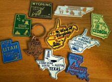 US State Souvenir Magnet & Keychain lot: GA LA TN TX WV WY UT - United States