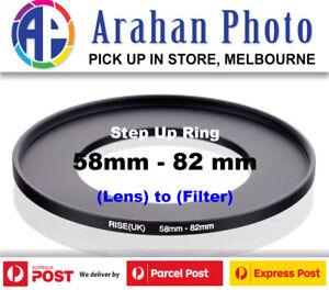 Step Up Ring 58-82 Filter Lens Adapter 58mm Filter to 82mm Lens