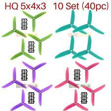 HQProp HQ Prop 5x4x3 Glass Fiber Tri-Blade Propellers FPV Props Mixed Color 40pc