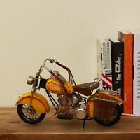 "13"" Hand Made 1950's Vintage Retro Tin Metal  Motorcycle Model Antiqued Decorati"