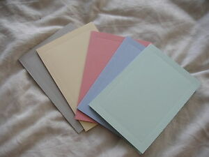 SINGLE FOLD CARD BLANKS WITH INDENTED FRAME DETAIL  (lot 101)