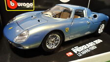 FERRARI  250 LM bleu standox au 1/18 base BURAGO voiture miniature de collection