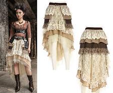 RQ-BL Steampunk Rock 2-tlg SET Gothic Gürtel Vintage Skirt Spitze Beige SP089