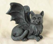 New Medieval Gothic Gray Kitten Cat Gargoyle Shelf Sitter Figure Figurine