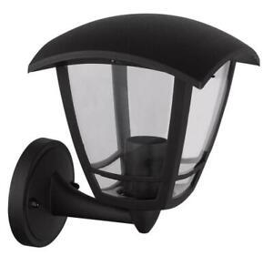 Square External Modern Black Lantern Outdoor Garden Lantern Light Lamp IP44