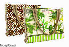 Michel Design Works Designer Tote Bag Palm Paradise Palm Trees - NEW