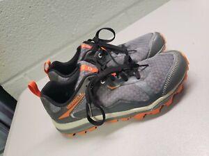 Men's Grey Orange Merrell Unifly Hiking Performance Sneakers Shoes Size 7.5