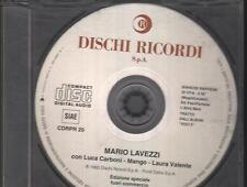 """LUCA CARBONI MANGO LAURA VALENTE - RARO CDs PROMO """" BIANCHE RAFFICHE DI VITA """""""