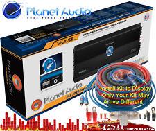 New listing Pl30002 Planet Audio Pulse 3000 Watt 2 Channel Class A/B Amplifier w-Install Kit