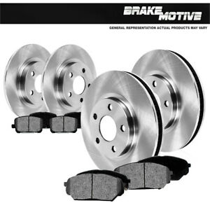 Front & Rear OE Rotors Metallic Pads For Mercedes Benz ML320 ML350 ML430