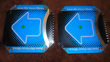 LOT of (2) DANCE DANCE REVOLUTION DDR KONAMI FLOOR PADS BLUE USED SET #4