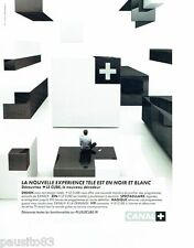 PUBLICITE ADVERTISING 116  2008  Canal +   tv  le cube internet Design