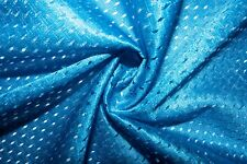 Turquoise #8 Athletic Sports Mesh Knit Polyester Football Jersey Fabric Bty