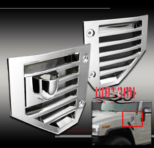06-09 HUMMER H2 SIDE VENT COVERS CHROME HOOD INTAKE BEZEL MOULDING TRIM  07 08