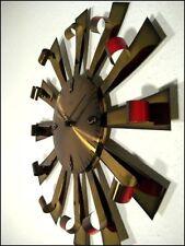VTG D.50cm Atlanta Sunburst Wanduhr Uhr 50er Jahre vintage & alt MCM 50s 60s