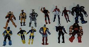 Marvel Universe 3.75 X-men Lot of 13 Sabretooth Cyclops Juggernaut Wolverine
