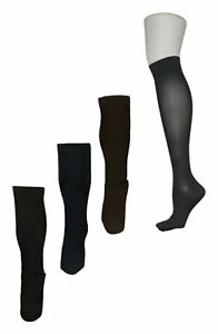 Legacy Women's Sz M/L 8-15 mmHG Graduated Compression Set/4 Black Socks A388345