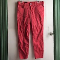 KUT FROM THE KLOTH Marilyn Ankle Skinny Coral Orange Cropped Skinny Jean Jeans 6
