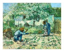 First Steps after Millet by Vincent van Gogh A2+ High Quality Art Print