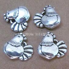 20pc Tibetan Silver Chicken Animal Pendant Charms Accessories Wholesale  PL225