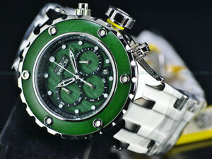 NEW Invicta 52mm High Polished PINE GREEN WOOD SAS Quartz Chronograph 500M Diver