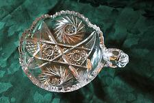 Nappy Single Handled Cut Glass Dish