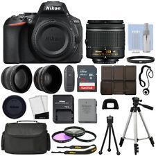 Nikon D5600 Digital Slr Preto + 3 Lentes: 18-55mm VR lente + Pacote De 32GB