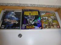 PS3 Lot of 3 - Demon's Souls Borderlands 2 & the Pre-Sequel Playstation 3 VGUC