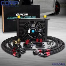 30 ROW AN-10 AN Universal  Engine Oil Cooler  Kit + Filter  Kit+Electric Fan