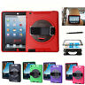 Hybrid Rugged Shockproof Armor Silicone Case Cover & Car Stand For Apple iPads