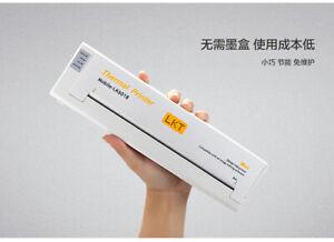 LKT MINI THERMAL PRINTER MOBILE LK-6018 -white