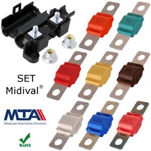 30A - 125A MIDI Sicherung Midi Sicherungshalter KFZ SET MTA Qualitätsware