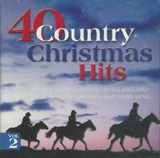40 Country Christmas Hits Vol 2 CD Willie Nelson Glen Campbell Crystal Gayle +