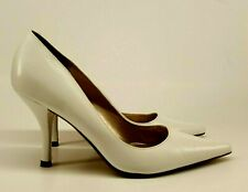 Steve Madden Ladies Shoes UK 4 White Stiletto Leather Pointed Pumps