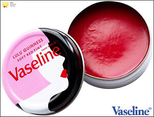 Vaseline Lip Therapy Balm Petroleum Jelly Lulu Guinness Soft Red Tint 20g