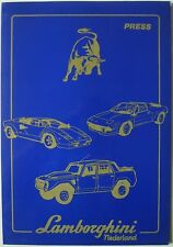Lamborghini 1989 Amsterdam RAI Show Press Kit Countach Celebration LM 002