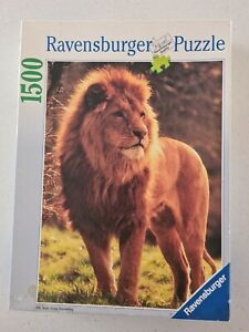 KING OF THE JUNGLE - 1500 PC RAVENSBURGER JIGSAW PUZZLE - 1994 USED/COMPLETE
