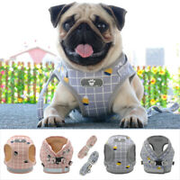 Reflective Small Meidum Dog Harness and Lead Pet Cat Mesh Walking Vest Chihuahua