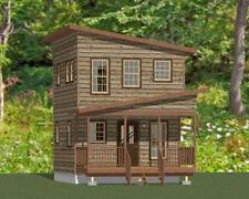 16x16 Tiny House - 465 sq ft - Pdf Floor Plan - Model 2C