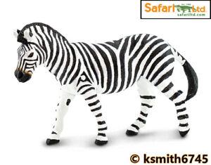 Safari ZEBRA 2020 solid plastic toy figure wild zoo African animal  * NEW *💥