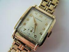 Reloj Pulsera edición Limitada De Caballero Vintage .375 9CT Oro Cuerda Manual + Caja período Garrard