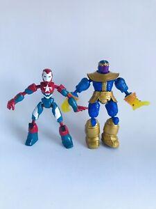 "Marvel Bend and Flex Avengers Iron Patriot Thanos Figures 6"""