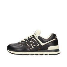 New Balance 574 Sneaker Nera in Pelle da Uomo ML574LPK 93822