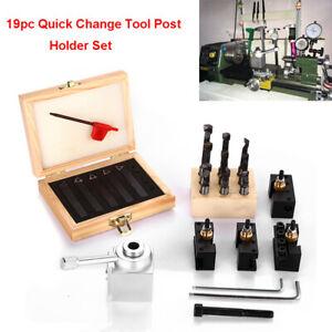 19x Quick Change Tool Post Mini Set Holder Lathe Boring Holder Turning Bar CNC#