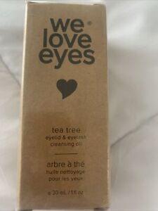 New! We Love Eyes Tea Tree Eyelid & Eyelash Cleansing  Oil 1 fl. oz