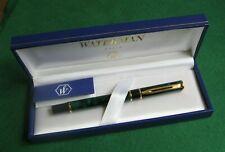 Vintage WATERMANS Paris Green Mable Lacquer Ballpoint Pen In Original Case