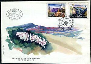 2721 - Yugoslavia 1995 - European Nature Conservation - Birds - FDC