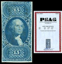 Scott R97a 1862 $15.00 Imperforate Revenue Used F Cat $3,750 w/PSAG Certificate!