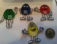 """4 - M & M's M&M'S Peanuts Mars candy iron on embroidered Patch Patches Lot 2"""""""