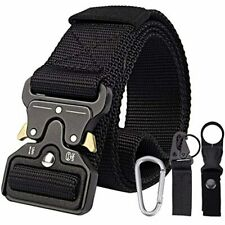 Tactical-Belt with 3 Accessories, 1.5 Inches Durable Quick-Release Metal Buckle